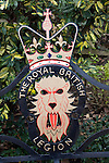 The Royal British Legion logo lion and crown sign