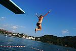 Lake Bled Diving Board, Slovenia