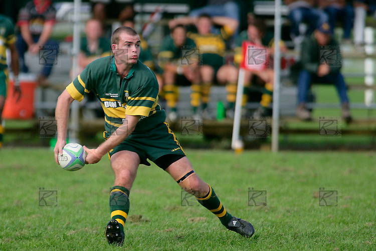Pukekohe firstfive F. Hodgeson. Counties Manukau Premier Club Rugby, Pukekohe v Manurewa  played at the Colin Lawrie field, on the 17th of April 2006. Manurewa won 20 - 18.