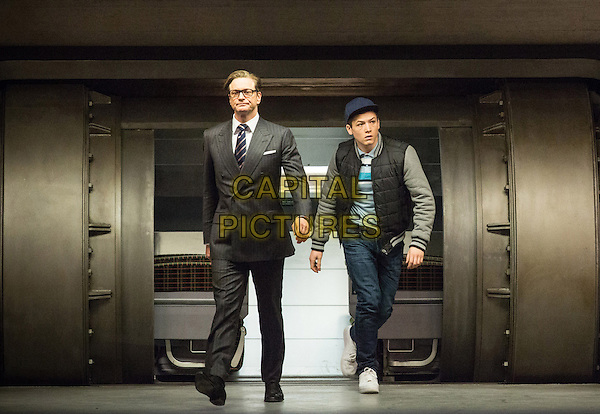 Colin Firth, Taron Egerton<br /> in Kingsman: The Secret Service (2015) <br /> *Filmstill - Editorial Use Only*<br /> CAP/FB<br /> Image supplied by Capital Pictures