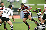 Simon Lemalu hops out of Wirihana Raihania's tackle during the Air New Zealand Cup rugby game between Counties Manukau & Hawkes Bay played at Mt Smart Stadium, 30th of September 2006. Hawkes Bay won 30 - 29.