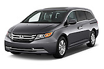 Front three quarter view of a 2014 Honda Odyssey EX-L