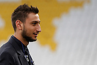 Italy's goalkeeper Gianluigi Donnarumma during the walk around the pitch of the Juventus Stadium, ahead of the FIFA World Cup 2018 qualification match against Spain, in Turin, 5 October 2016.<br /> <br /> <br /> UPDATE IMAGES PRESS/Isabella Bonotto