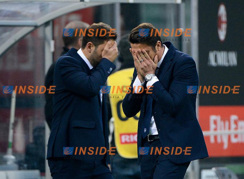 Delusione Massimo Oddo allenatore Pescara coach<br /> Milano 30-10-2016 Stadio Giuseppe Meazza - Football Calcio Serie A Milan - Pescara. Foto Giuseppe Celeste / Insidefoto