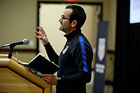 Bradenton, FL : Tony Lepore speaks to US Soccer athletes during a presentation in Bradenton, Fla., on January 4, 2018. (Photo by Casey Brooke Lawson)