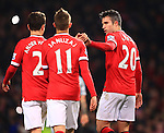 Robin van Persie of Manchester United celebrates scoring his sides third goal - Manchester United vs. Burnley - Barclay's Premier League - Old Trafford - Manchester - 11/02/2015 Pic Philip Oldham/Sportimage