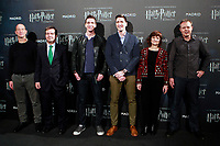Rafael Gimenez, Sold Out Partner; Eduardo Lopez-Puertas, General Director of IFEMA; English actors James and Oliver Phelps, who played the mischievous twins Fred and George Weasley in the Harry Potter movie saga, Almudena del Rosal Alonso, Deputy Director General of Business Participation at the City Council of Madrid and Robin Stapley, Vice President of GES Events during the opening of Harry Potter: The Exhibition in Madrid. November 16, 2017. (ALTERPHOTOS/Acero) /NortePhoto.com