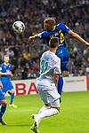 10.08.2019, wohninvest Weserstadion, Bremen, GER, DFB-Pokal, 1. Runde, SV Atlas Delmenhorst vs SV Werder Bremen<br /> <br /> DFB REGULATIONS PROHIBIT ANY USE OF PHOTOGRAPHS AS IMAGE SEQUENCES AND/OR QUASI-VIDEO.<br /> <br /> im Bild / picture shows<br /> <br /> Marvin Osei (SV Atlas Delmenhorst #24)<br /> Marco Friedl (Werder Bremen #32)<br /> Foto © nordphoto / Kokenge