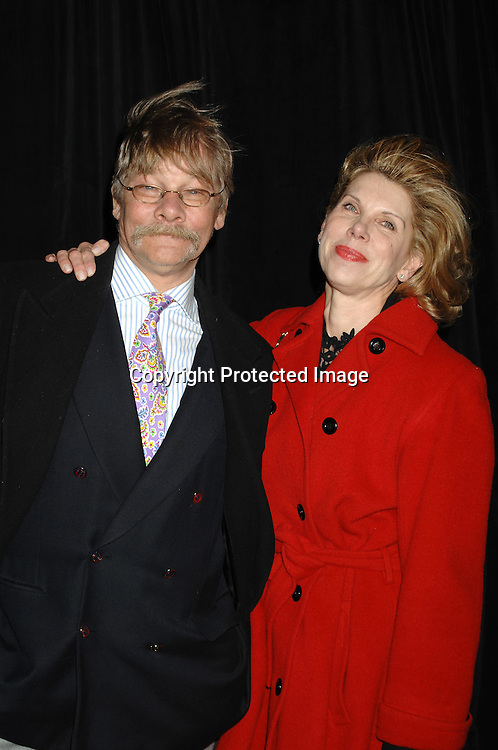 """Matthew Cowles and wife Christine Baranski..arriving at The Broadway Opening of """"The Year of Magical ..Thinking"""" written by Joan Didion and starring Vanessa Redgrave on March 29, 2007 at The Booth Theatre in New York...Robin Platzer, Twin Images"""