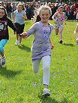 Chloe Kennedy running in the under 10 race at Moneymore sports day. Photo: www.pressphotos.ie