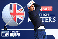 Ross Fisher (ENG) on the 2nd tee during Round 3 of the Sky Sports British Masters at Walton Heath Golf Club in Tadworth, Surrey, England on Saturday 13th Oct 2018.<br /> Picture:  Thos Caffrey | Golffile