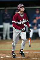 Jed Lowrie of the Stanford Cardinal plays in a NCAA baseball game at Goodwin Field during the 2005 season in Fullerton, California. (Larry Goren/Four Seam Images)