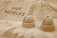 Save Trestles Sand Sculpture San Onofre Nuclear Plant, SONGS