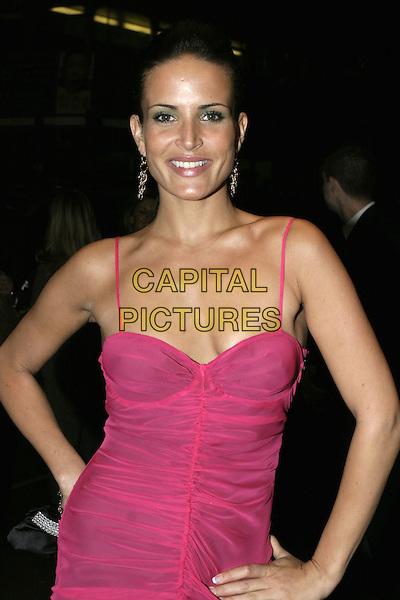 "SOPHIE ANDERTON.""Wimbledon"" after party, The Dorchester, London, September 20th 2004..half length pink fuschia dress.Ref: AH.www.capitalpictures.com.sales@capitalpictures.com.©Capital Pictures."