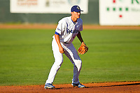 Ogden Raptors shortstop Corey Seager (46) on defense against the Orem Owlz at Lindquist Field on July 27, 2012 in Ogden, Utah.  The Raptors defeated the Owlz 6-3.   (Brian Westerholt/Four Seam Images)