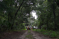 Crews restoring power during Hurricane Dorian in Vero Beach, Fla. on September 4, 2019