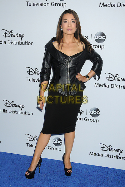 Ming-Na Wen.Disney Media Networks International Upfronts 2013 held at Walt Disney Studios, Burbank, California, USA..May 19th, 2013.full length dress leather black hand on hip.CAP/ADM/BP.©Byron Purvis/AdMedia/Capital Pictures