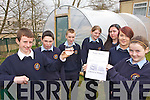 WATER WEEK: Members of the Green School Committee at Scoil Phobail Sliabh Luachra in Rathmore who took part in Water Week last week as part of their campaign for another Green Flag, l-r: Liam Whitford, Gavin Murphy, Colm Falvey, Melissa O'Riordan, Sheriene Acun, Aobhinn Dobbins, Lisa Reen.