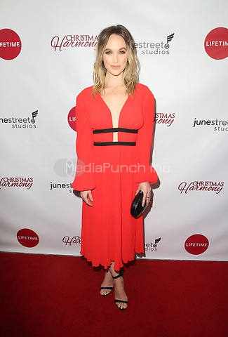 "LOS ANGELES, CA - NOVEMBER 7: Kelley Jakle, at Premiere of Lifetime's ""Christmas Harmony"" at Harmony Gold Theatre in Los Angeles, California on November 7, 2018. Credit: Faye Sadou/MediaPunch"