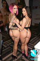 Anna Bell Peaks, Kendra Lust at AVN Expo, <br /> Hard Rock Hotel, <br /> Las Vegas, NV, Wednesday January 18, 2017.