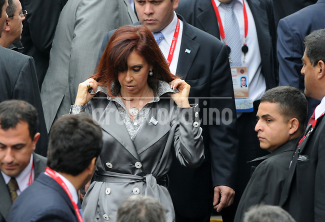 Cristina Kirchner, president of Argentina, during  the Fifth Summit of Latin America, the Caribbean and the European Union in    Lima, Peru,
