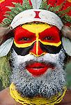 Portrait of Mendi man, Papua New Guinea