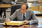 Egyptian President Abdel Fattah al- Sisi visits Alexandria Library, in Alexandria , Egypt, on July 25, 2017. Photo by Egyptian President Office