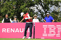 Sel Young Kim (KOR) tees off the 5th tee during Friday's Round 2 of The Evian Championship 2018, held at the Evian Resort Golf Club, Evian-les-Bains, France. 14th September 2018.<br /> Picture: Eoin Clarke | Golffile<br /> <br /> <br /> All photos usage must carry mandatory copyright credit (&copy; Golffile | Eoin Clarke)