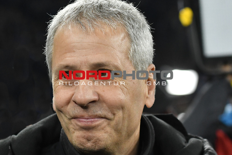 08.12.2018, Veltins-Arena, Gelsenkirchen, GER, 1. FBL, FC Schalke 04 vs. Borussia Dortmund, DFL regulations prohibit any use of photographs as image sequences and/or quasi-video<br /> <br /> im Bild Lucien Favre (Borussia Dortmund) Portrait, halbportrait, Bild, einzel, Einzelaufnahme, picture, single, solo, alleine <br /> <br /> Foto © nordphoto/Mauelshagen