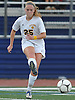 Cassidy Byrns of Massapequa makes a pass during the Nassau County varsity girls soccer Class AA final against Calhoun at Cold Spring Harbor High School on Tuesday, Nov. 1, 2016. Massapequa won by a score of 5-1.