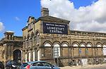 British Railways oil sign on railway station building, Lowestoft, Suffolk, England, UK