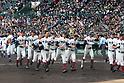 Osaka Toin team group,<br /> APRIL 1, 2016 - Baseball :<br /> Osaka Toin players before the 89th National High School Baseball Invitational Tournament final game between Riseisha 3-8 Osaka Toin at Koshien Stadium in Hyogo, Japan. (Photo by Katsuro Okazawa/AFLO)