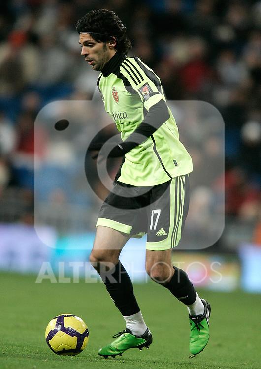 Zaragoza's Angel Lafita during La Liga match, December 19, 2009. (ALTERPHOTOS/Alvaro Hernandez).