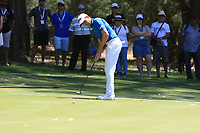 Brett Rumford (AUS) in action on the 1st during Round 2 of the ISPS Handa World Super 6 Perth at Lake Karrinyup Country Club on the Friday 9th February 2018.<br /> Picture:  Thos Caffrey / www.golffile.ie<br /> <br /> All photo usage must carry mandatory copyright credit (&copy; Golffile | Thos Caffrey)