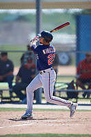 Minnesota Twins Alex Kirilloff (27) during a Minor League Spring Training game against the Tampa Bay Rays on March 15, 2018 at CenturyLink Sports Complex in Fort Myers, Florida.  (Mike Janes/Four Seam Images)