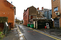 Pictured: Ebenezer Street, of the High Street in Swansea, Wales, UK. Tuesday 26 December 2017<br /> Re: Kyle Dunbar, 29, from the Fforestfach area of Swansea, has been charged with attempted murder after David Wynne was attacked on Swansea High Street and will appear at Swansea Magistrate's Court on Boxing Day.<br /> The victim, a 39-year-old man remains in a critical condition in Morriston Hospital after the attack, which occurred on Saturday evening.<br /> Police have asked anyone with information to contact 101 or Crimestoppers anonymously.