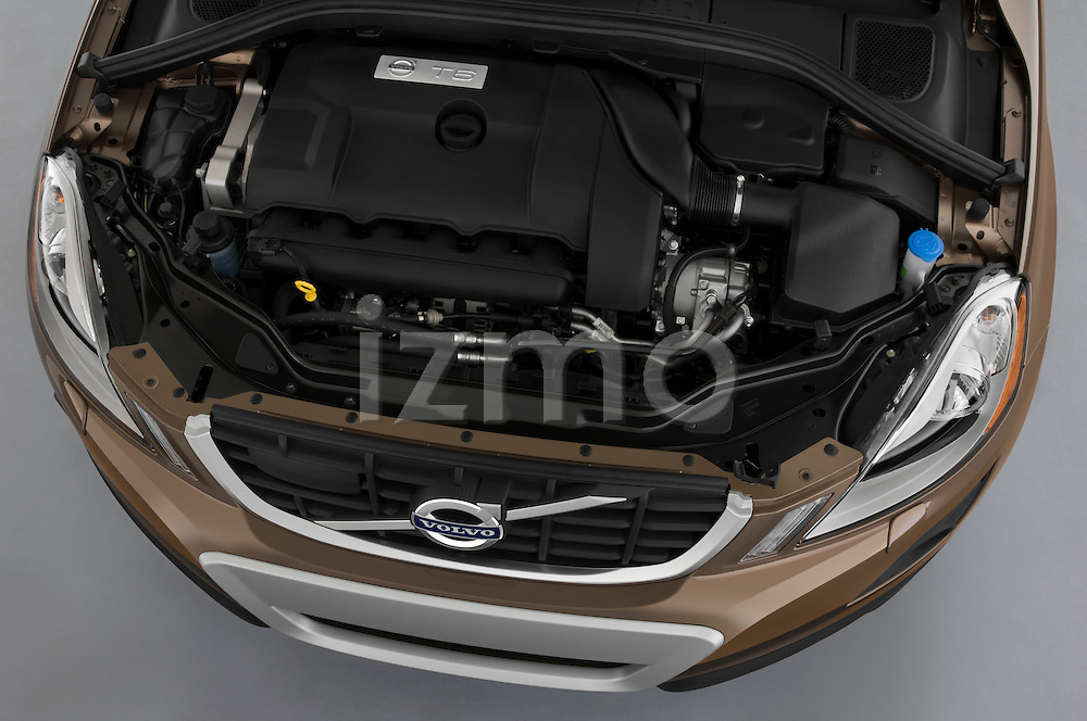 High angle engine detail of a 2009 Volvo XC 60