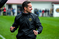 Team Wellington coach Jose Figueira celebrates after the fifth goal during the Oceania Football Championship final (first leg) football match between Team Wellington and Lautoka FC at David Farrington Park in Wellington, New Zealand on Sunday, 13 May 2018. Photo: Mike Moran / lintottphoto.co.nz