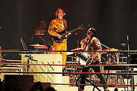 LONDON, ENGLAND - APRIL 12: Richard Reed Parry and Will Butler of 'Arcade Fire' performing at SSE Arena on April 12, 2018 in London, England.<br /> CAP/MAR<br /> &copy;MAR/Capital Pictures