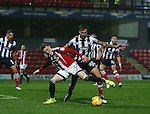Caolan Lavery of Sheffield Utd during the Checkatrade Trophy match at Blundell Park Stadium, Grimsby. Picture date: November 9th, 2016. Pic Simon Bellis/Sportimage