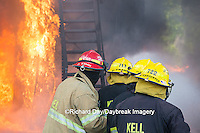 63818-02605 Firefighters at oilfield tank training, Marion Co., IL