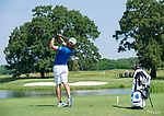 MUSCLE SHOALS, AL - MAY 25: West Florida's Carlos Marrero watches his tee shot on No. 9 during the Division II Men's Team Match Play Golf Championship held at the Robert Trent Jones Golf Trail at the Shoals, Fighting Joe Course on May 25, 2018 in Muscle Shoals, Alabama. Lynn defeated West Florida 3-2 to win the national title. (Photo by Cliff Williams/NCAA Photos via Getty Images)