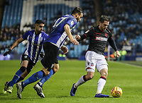 Bolton Wanderers' Andrew Taylor competing with Sheffield Wednesday's Marco Matias and Atdhe Nuhiu <br /> <br /> Photographer Andrew Kearns/CameraSport<br /> <br /> The EFL Sky Bet Championship - Sheffield Wednesday v Bolton Wanderers - Tuesday 27th November 2018 - Hillsborough - Sheffield<br /> <br /> World Copyright &copy; 2018 CameraSport. All rights reserved. 43 Linden Ave. Countesthorpe. Leicester. England. LE8 5PG - Tel: +44 (0) 116 277 4147 - admin@camerasport.com - www.camerasport.com
