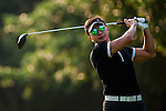 Tenniel Chu, Vice Chairman of Mission Hills Group, plays a shot during the Hyundai China Ladies Open 2014 on December 09 2014 at Mission Hills Shenzhen, in Shenzhen, China. Photo by Aitor Alcalde / Power Sport Images
