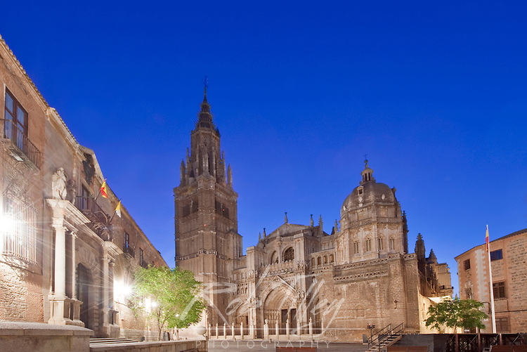Europe, Spain,Toledo, Toledo Cathedral at Dawn
