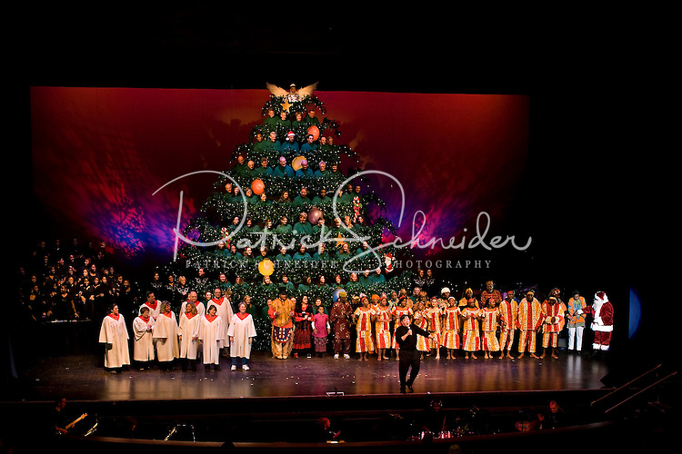 The annual Singing Christmas Tree / MainStage Choir production held at  Ovens Auditorium, 2700 East - Singing Christmas Tree (Ovens Auditorium) Patrick Schneider