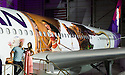 "Hawaiian Airlines today revealed the first of three ""Moana""-themed planes at its home base at Honolulu International Airport (HNL). Auli'i Cravalho, the Hawaiʻi-born actress who is the voice of Disney's ""Moana,"" and Dwayne Johnson, the voice of demigod Maui, were among the first to see the inspiring new design. Photo by Donald Traill for Hawaiian Airlines"