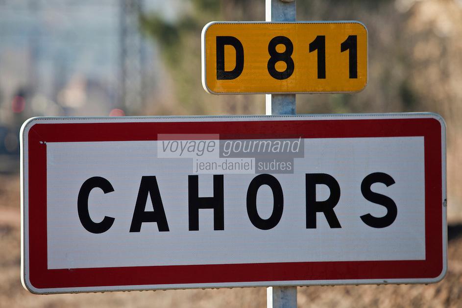 Europe/Europe/France/Midi-Pyrénées/46/Lot/Cahors: Panneau routier