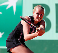AGNES SZAVAY (HUN) against OLGA GOVORTSOVA  (RUS) in the first round of the women's singles. Olga Govortsova beat Agnes Szavay 6-4 4-6 6-4..Tennis - Grand Slam - French Open - Roland Garros - Paris - Day 2 -  Mon May 23rd 2011..© AMN Images, Barry House, 20-22 Worple Road, London, SW19 4DH, UK..+44 208 947 0100.www.amnimages.photoshelter.com.www.advantagemedianetwork.com.