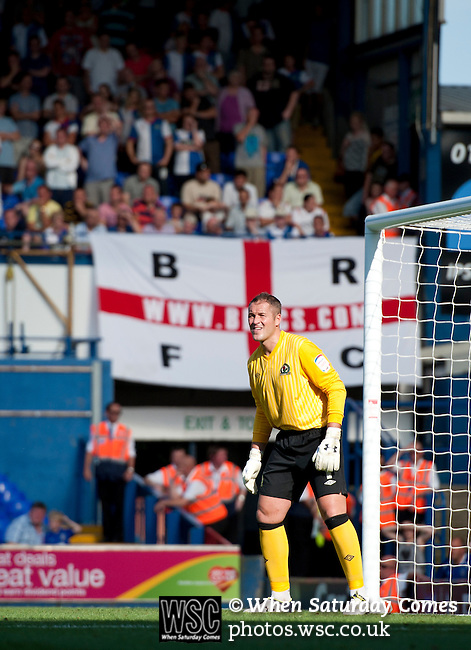 Ipswich Town 1 Blackburn Rovers 1, 18/08/2012. Portman Road, Championship. Blackburn visit Suffolk for their first game back in the Championship. Blackburn goalkeeper Paul Robinson. Photo by Simon Gill.